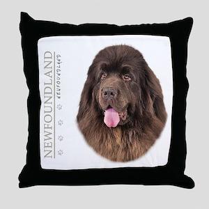 Brown Newfoundland Throw Pillow