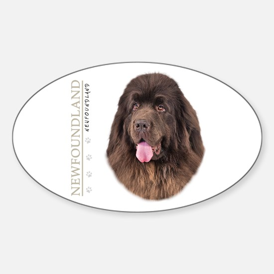 Brown Newfoundland Sticker (Oval)