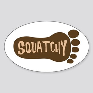 Squatchy Imprint Sticker (Oval)