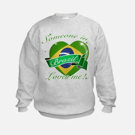 Brazil Flag Design Sweatshirt