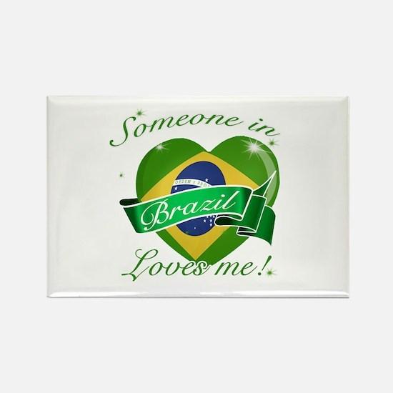Brazil Flag Design Rectangle Magnet