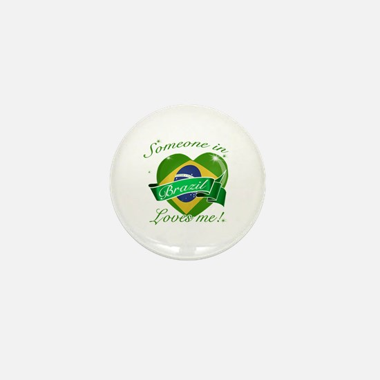 Brazil Flag Design Mini Button