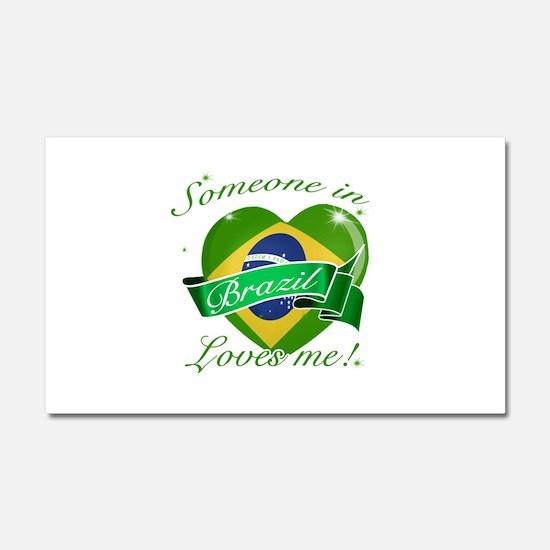 Brazil Flag Design Car Magnet 20 x 12