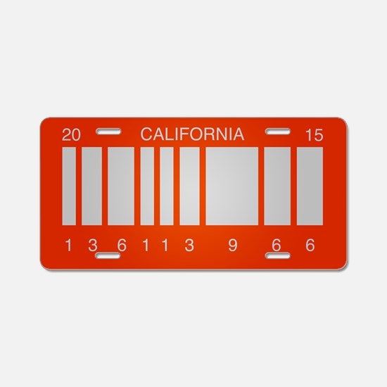 BTTF Future Aluminum License Plate