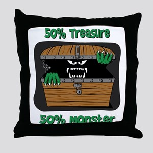 Half Treasure Half Monster Throw Pillow
