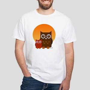 Cute Owls (5) White T-Shirt