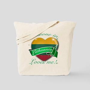 Lithuania Flag Design Tote Bag
