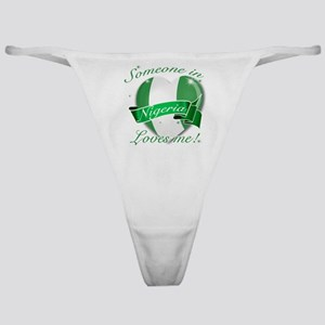 Nigeria Flag Design Classic Thong