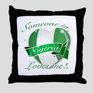 Nigeria Flag Design Throw Pillow