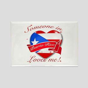 Puerto Rico Flag Design Rectangle Magnet