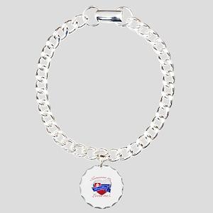 Slovakia Flag Design Charm Bracelet, One Charm