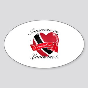 Trinidad Flag Design Sticker (Oval)