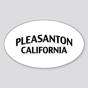 Pleasanton California Sticker (Oval)