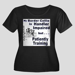Border Collie Agility Plus Size T-Shirt