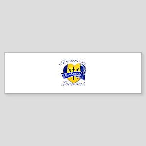 Barbados Flag Design Sticker (Bumper)
