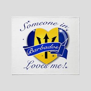 Barbados Flag Design Throw Blanket