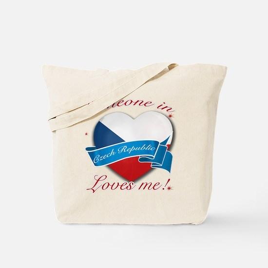 Czech Republic Flag Design Tote Bag