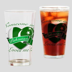 Pakistan Flag Design Drinking Glass