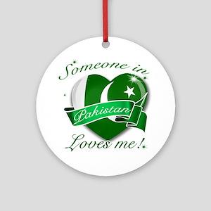 Pakistan Flag Design Ornament (Round)