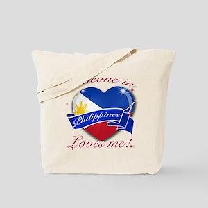 Philippines Flag Design Tote Bag