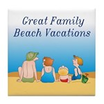 Family Vacations Tile Coaster