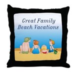 Family Vacations Throw Pillow
