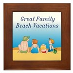 Family Vacations Framed Tile