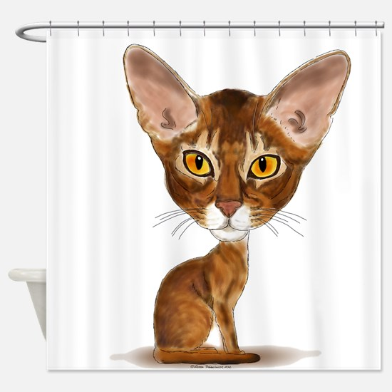 Aby Caricature Shower Curtain