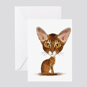 Aby Caricature Greeting Card
