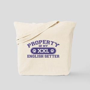 English Setter PROPERTY Tote Bag