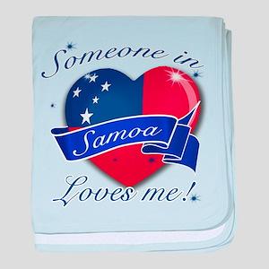 Samoa Flag Design baby blanket