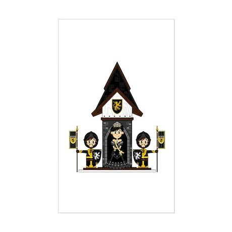 Princess and Black Knights Sticker