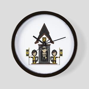 Princess and Black Knights Wall Clock