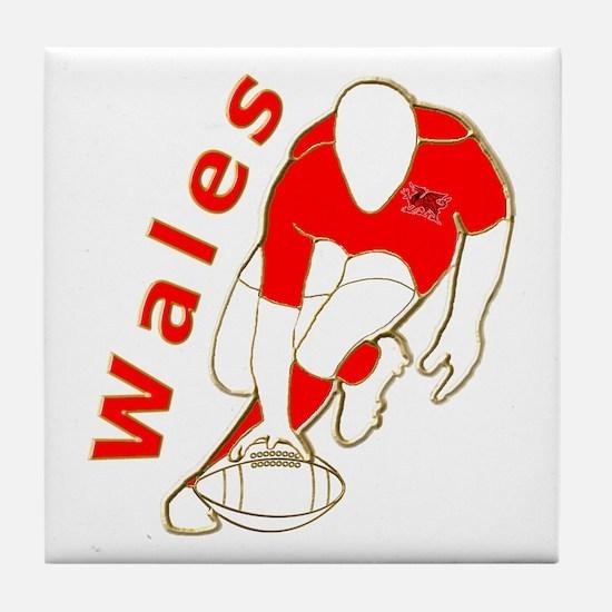Wales Rugby Designed Tile Coaster
