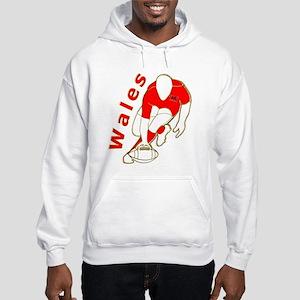 Wales Rugby Designed Hooded Sweatshirt