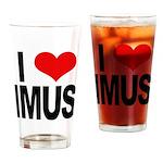 I Love Imus Drinking Glass
