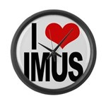 I Love Imus Large Wall Clock