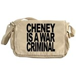 Cheney Is A War Criminal Messenger Bag
