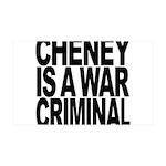 Cheney Is A War Criminal 38.5 x 24.5 Wall Peel