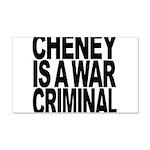 Cheney Is A War Criminal 22x14 Wall Peel
