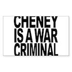 Cheney Is A War Criminal Sticker (Rectangle 10 pk)