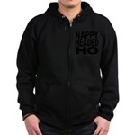 Nappy Headed Ho Original Desi Zip Hoodie (dark)