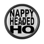 Nappy Headed Ho Original Desi Large Wall Clock