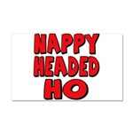 Nappy Headed Ho Red Design Car Magnet 20 x 12