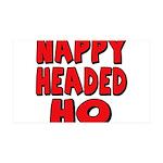 Nappy Headed Ho Red Design 38.5 x 24.5 Wall Peel