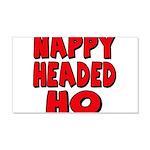 Nappy Headed Ho Red Design 22x14 Wall Peel