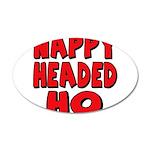 Nappy Headed Ho Red Design 22x14 Oval Wall Peel