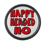 Nappy Headed Ho Red Design Large Wall Clock