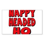 Nappy Headed Ho Red Design Sticker (Rectangle 50 p