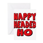 Nappy Headed Ho Red Design Greeting Cards (Pk of 2